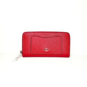 Coach Accordian Wallet Magenta leather clutch